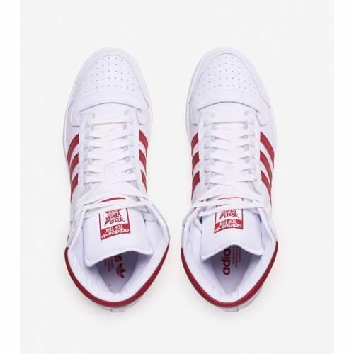 アディダス ADIDAS スニーカー 【 TOP TEN HI FOOTWEAR WHITE POWER RED 】 メンズ 送料無料