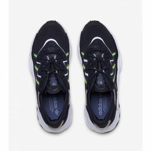 <title>ファッションブランド カジュアル ファッション スニーカー アディダス ADIDAS 黒色 ブラック 緑 グリーン 保証 GREEN OZWEEGO BLACK メンズ</title>