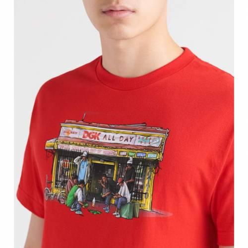 ディージーケー DGK 【 BODEGA TEE RED 】 メンズファッション トップス Tシャツ カットソー 送料無料
