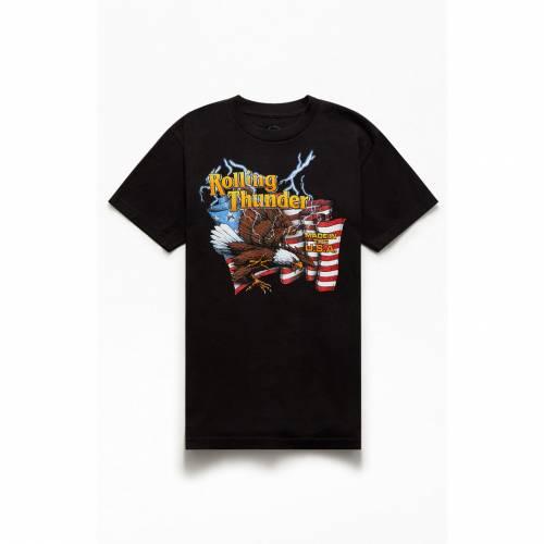 メンズファッション Tシャツ MADE PACSUN 【 TSHIRT THE PACSUN Tシャツ U.S.A. 】 黒色 BLACK ブラック トップス カットソー IN