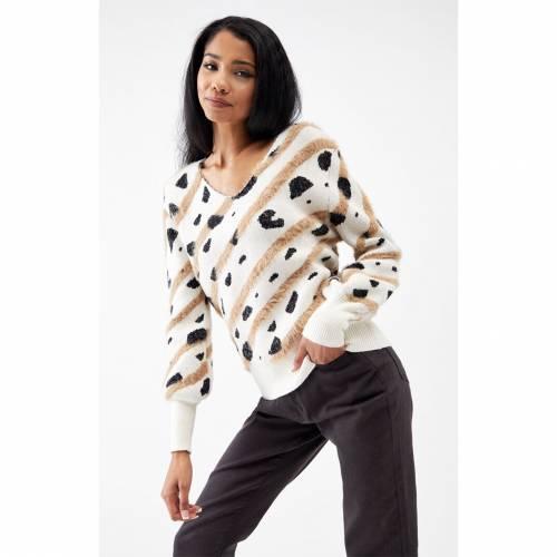 ファッションブランド カジュアル 春の新作シューズ満載 ファッション 定番の人気シリーズPOINT(ポイント)入荷 4SI3NNA トレーナー ヒョウ柄 レオパード ボトムス レディースファッション スカート MARBLE LEOPARD SWEATER