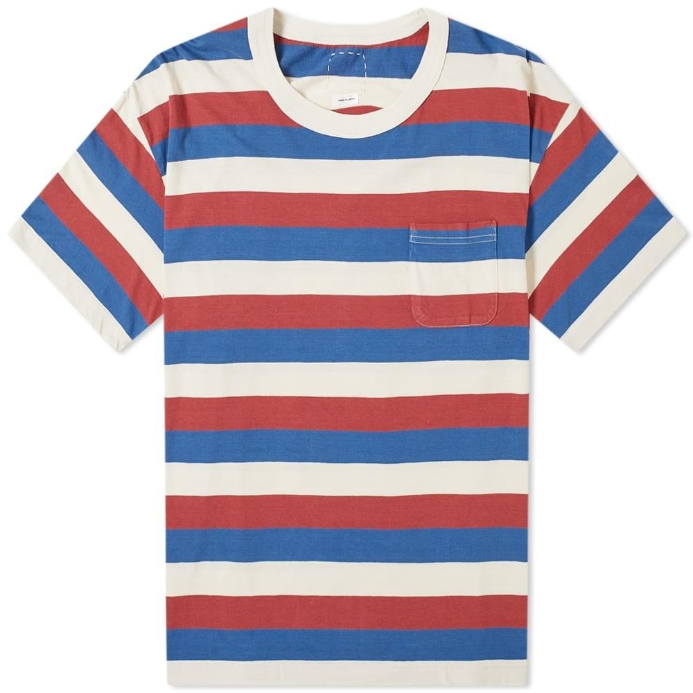 VISVIM ジャンボ Tシャツ メンズファッション トップス カットソー メンズ 【 Border Jumbo Tee 】 Red
