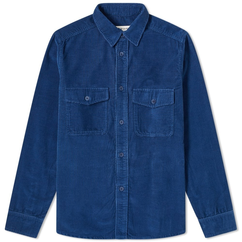 A KIND OF GUISE 【 CHAMBERS SHIRT SEA BLUE 】 メンズファッション トップス カジュアルシャツ 送料無料