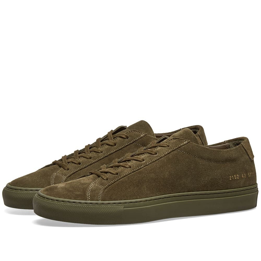 COMMON PROJECTS スニーカー 【 ORIGINAL ACHILLES LOW SUEDE ARMY GREEN 】 メンズ 送料無料