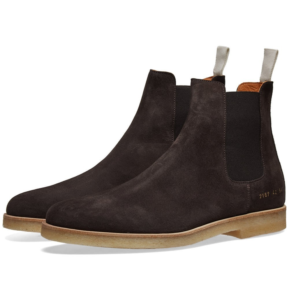 COMMON PROJECTS スエード スウェード 【 SUEDE CHELSEA BOOT WASHED BLACK 】 メンズ ブーツ 送料無料