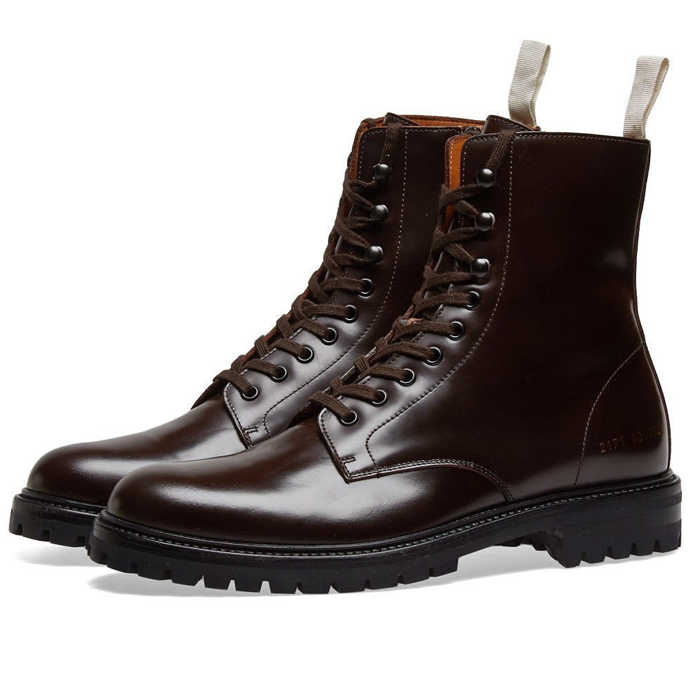 COMMON PROJECTS コンバット ブーツ メンズ 【 Combat Boot Lug Sole 】 Brown