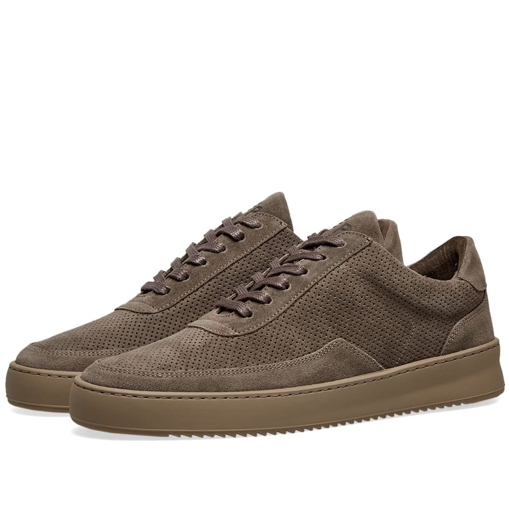 FILLING PIECES スエード スウェード スニーカー メンズ 【 Low Mondo Ripple Suede Perforated Sneaker 】 Taupe