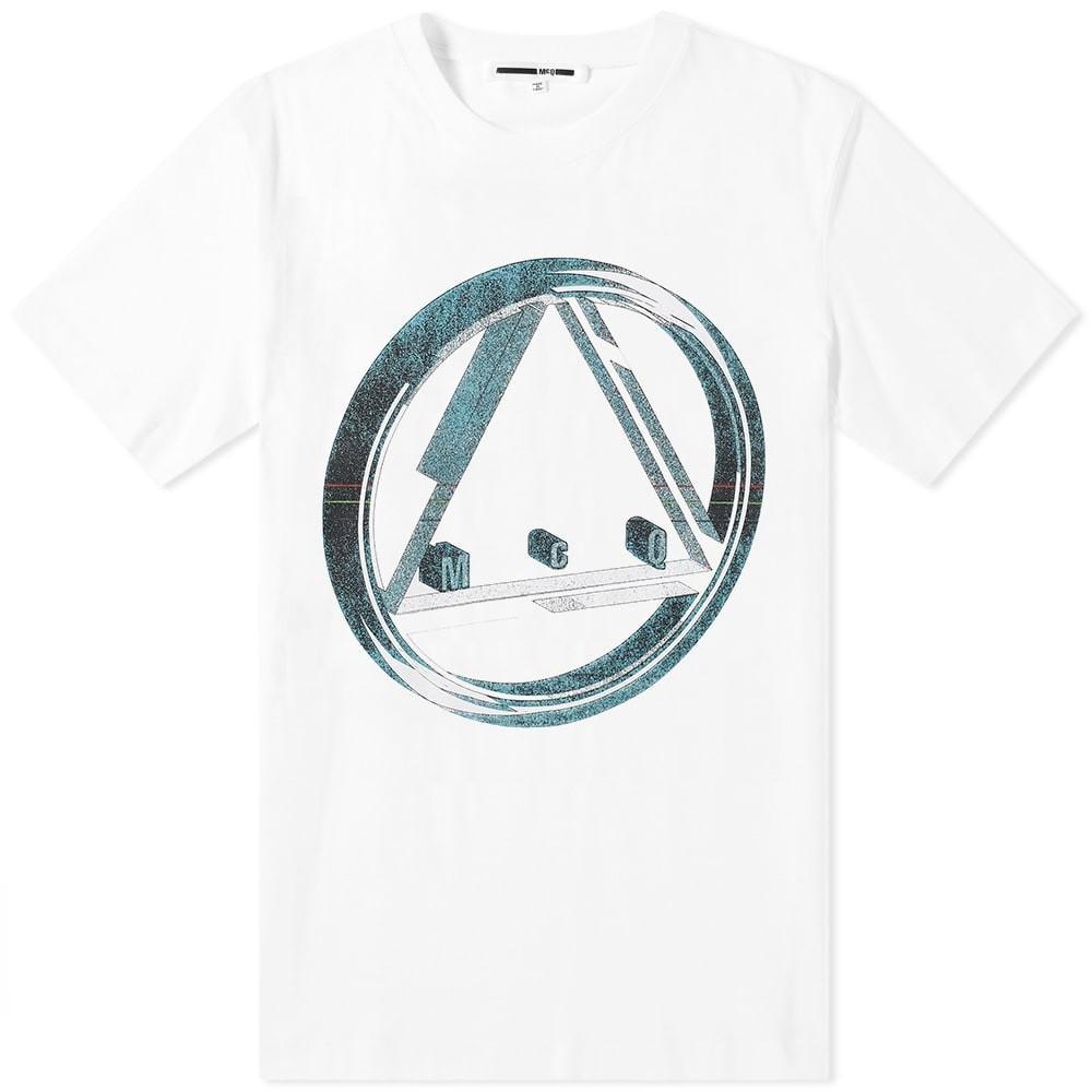 【スーパーセール中! 6/11深夜2時迄】MCQ ALEXANDER MCQUEEN ロゴ Tシャツ メンズファッション トップス カットソー メンズ 【 Circle Logo Tee 】 Optic White