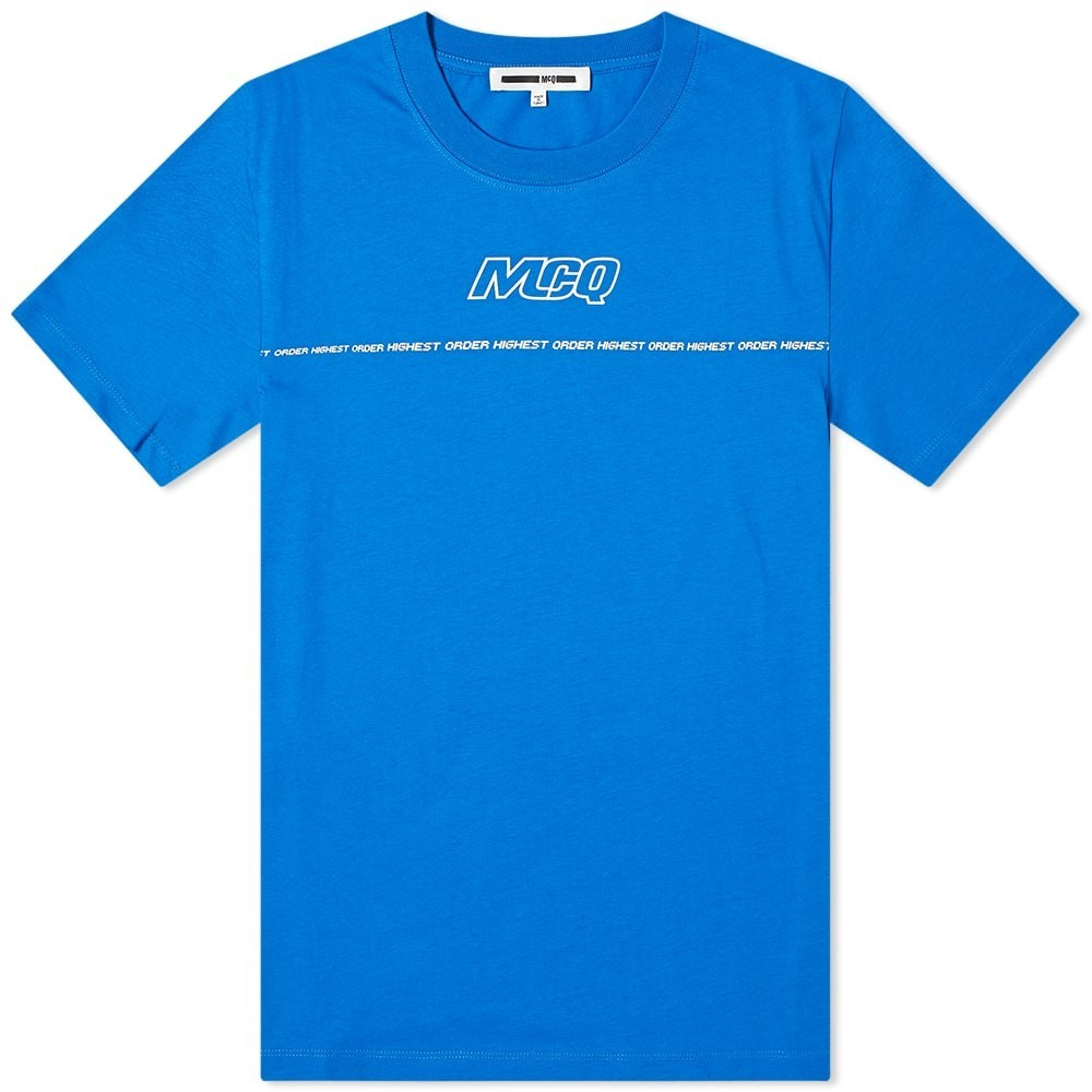 MCQ ALEXANDER MCQUEEN ロゴ Tシャツ メンズファッション トップス カットソー メンズ 【 Taped Logo Tee 】 Skate Blue