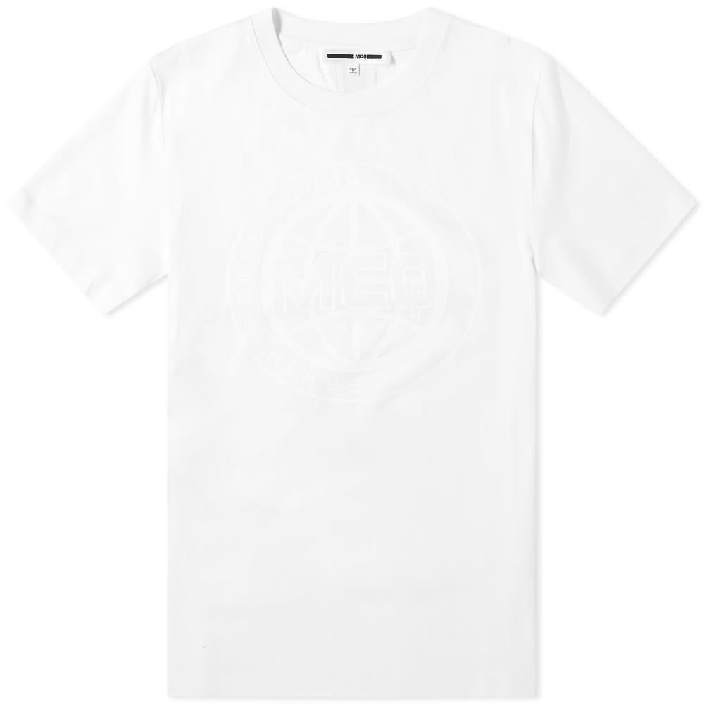 MCQ ALEXANDER MCQUEEN ロゴ 【 TONAL LOGO TEE OPTIC WHITE 】 メンズファッション トップス Tシャツ カットソー 送料無料
