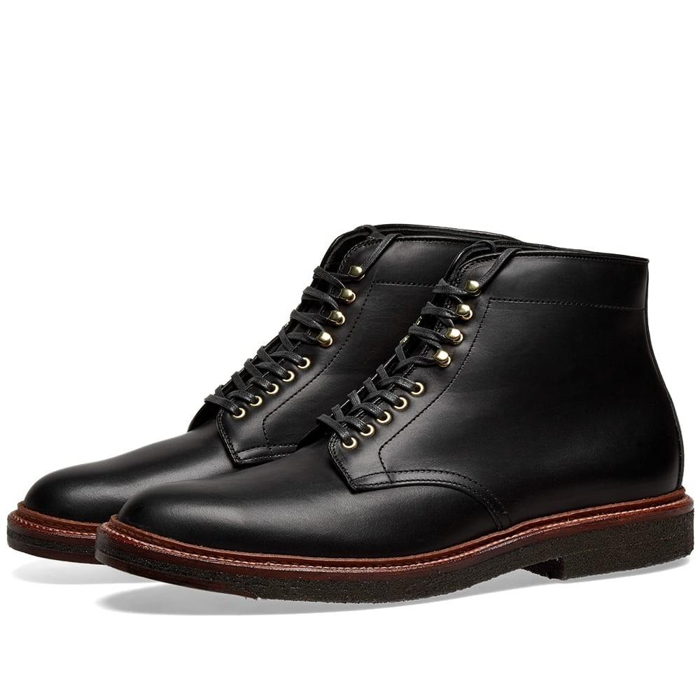 ALDEN SHOE COMPANY 【 ROUND TOE BOOT BLACK CALF 】 メンズ ブーツ 送料無料