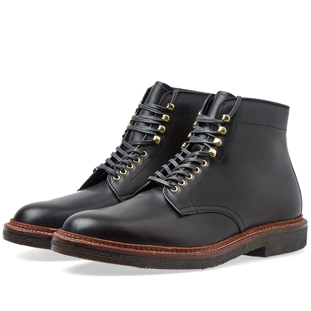 ALDEN SHOE COMPANY 【 ROUND TOE BOOT BLACK 】 メンズ ブーツ 送料無料
