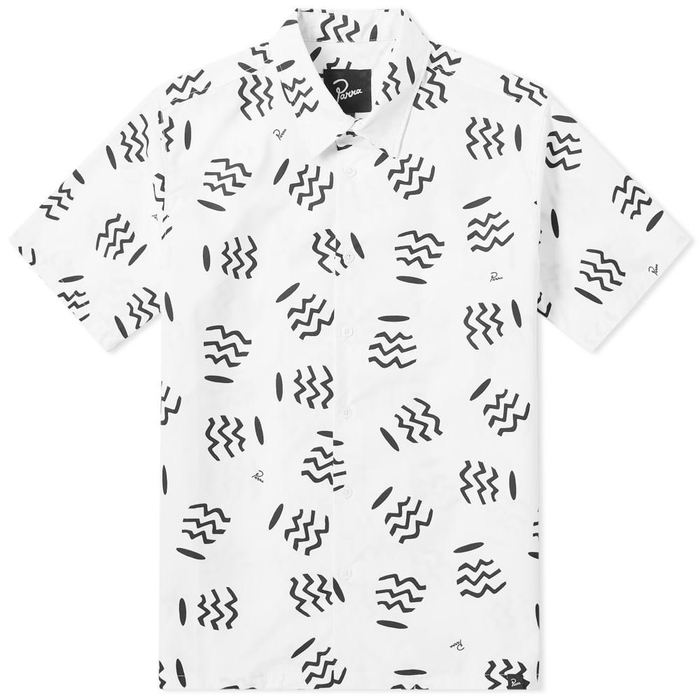 BY PARRA 【 VASES COLLAR SHIRT WHITE 】 メンズファッション トップス カジュアルシャツ 送料無料