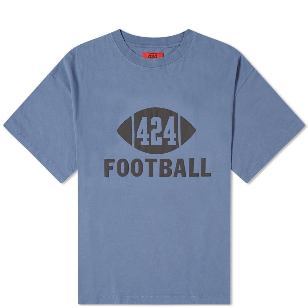 424 Tシャツ メンズファッション トップス カットソー メンズ 【 Football Tee 】 Blue