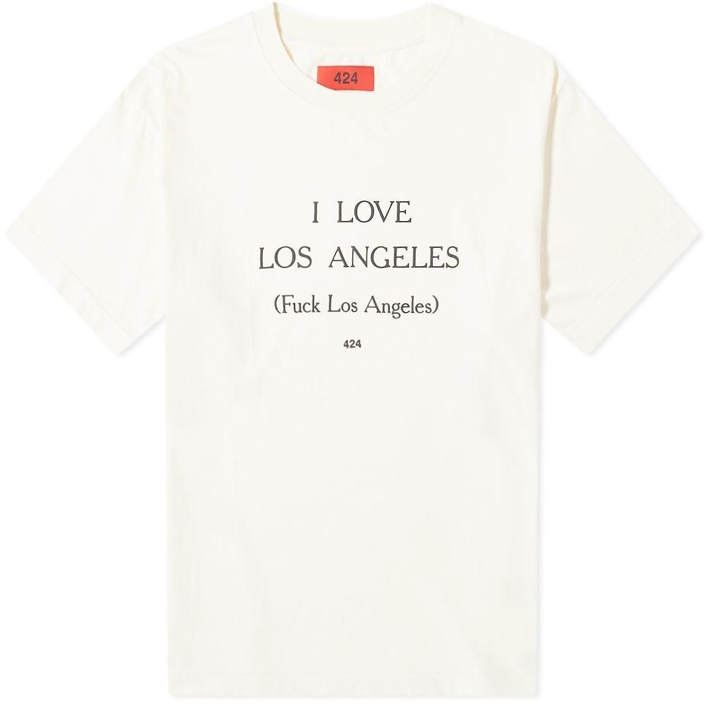424 Tシャツ メンズファッション トップス カットソー メンズ 【 I Love Los Angeles Tee 】 Cream