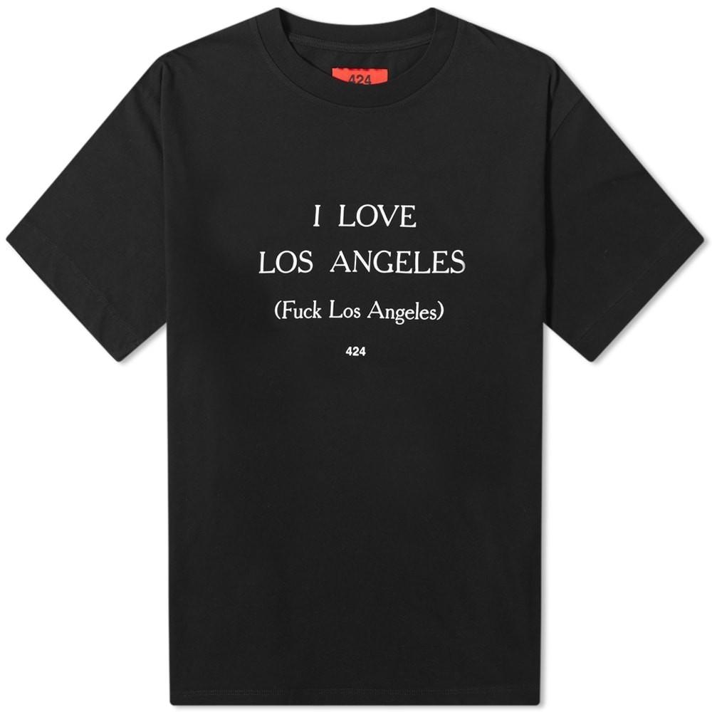 424 Tシャツ メンズファッション トップス カットソー メンズ 【 I Love Los Angeles Tee 】 Black