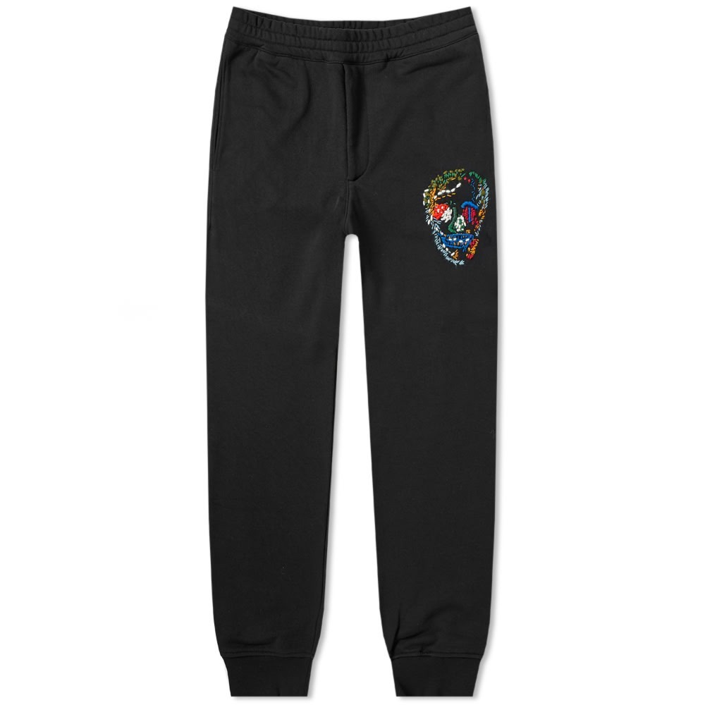 アレキサンダーマックイーン ALEXANDER MCQUEEN 【 MULTI COLOURED SKULL JOGGER BLACK 】 メンズファッション ズボン パンツ 送料無料