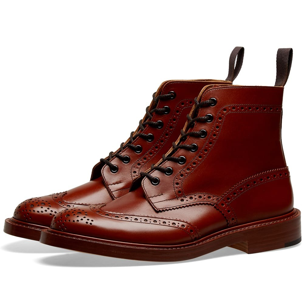 【NeaYearSALE1/1-1/5】TRICKERS TRICKER'S 【 STOW BROGUE DERBY BOOT MARRON ANTIQUE 】 メンズ ブーツ 送料無料