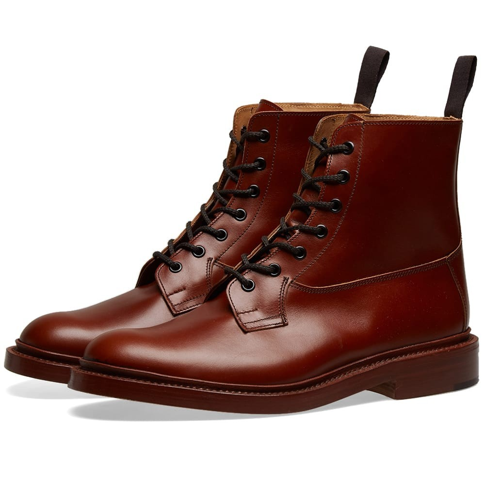 TRICKERS ブーツ メンズ 【 Trickers Burford Derby Boot 】 Marron Antique