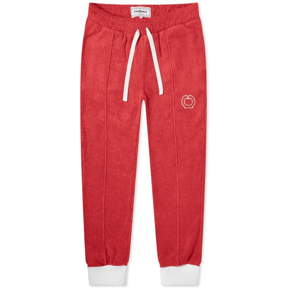 CASABLANCA トラック パンツ 赤 レッド 【 RED CASABLANCA APRES TERRY TRACK PANT 】 メンズファッション ズボン パンツ