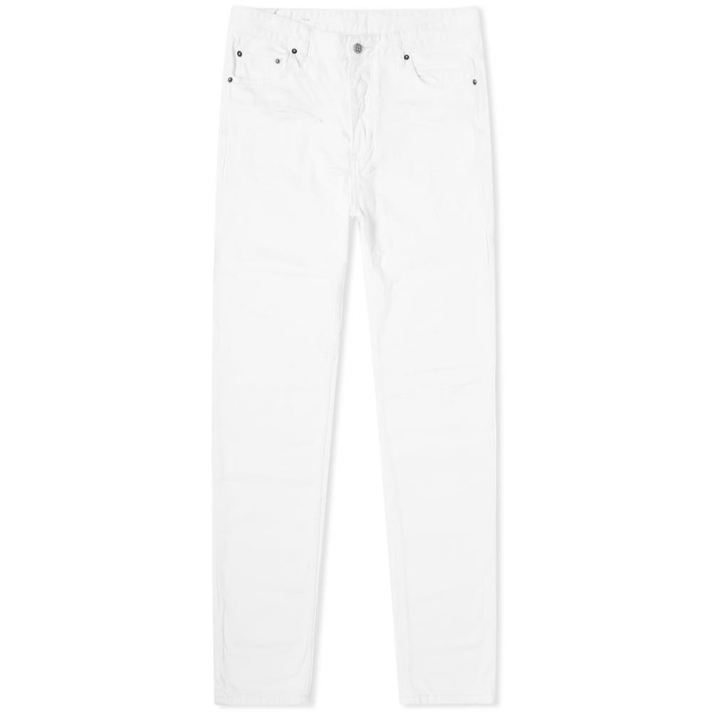 KSUBI 白 ホワイト 【 WHITE KSUBI CHITCH STARK SLASH JEANS 】 メンズファッション ズボン パンツ