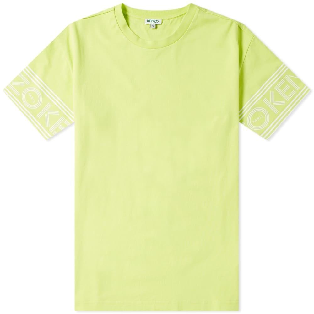 KENZO Tシャツ メンズファッション トップス カットソー メンズ 【 Paris Cuff Print Tee 】 Lemon