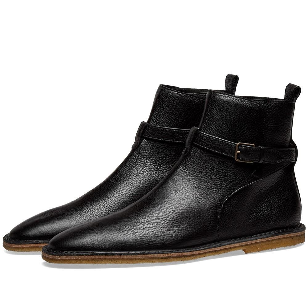 SAINT LAURENT レザー ブーツ メンズ 【 Nino 10 Leather Jodhpur Boot 】 Black