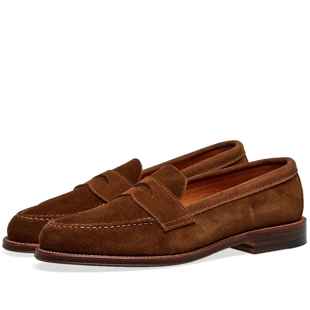 ALDEN SHOE COMPANY ペニー メンズ 【 Alden Unlined Penny Loafer 】 Snuff Suede