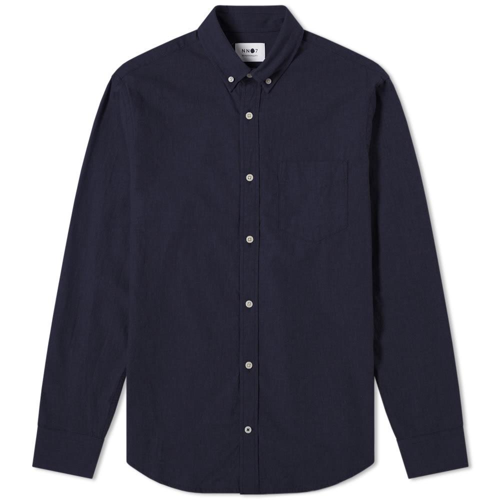 NN07 【 LEVON FLANNEL SHIRT NAVY 】 メンズファッション トップス カジュアルシャツ 送料無料