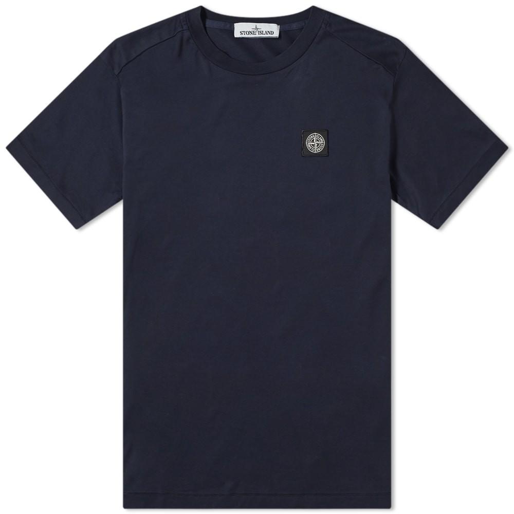 STONE ISLAND ロゴ Tシャツ メンズファッション トップス カットソー メンズ 【 Patch Logo Tee 】 Navy