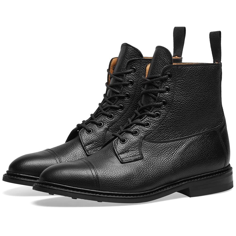 TRICKERS キャップ 帽子 TRICKER'S 【 CALVERT TOE CAP BOOT BLACK OLIVVIA 】 メンズ ブーツ 送料無料
