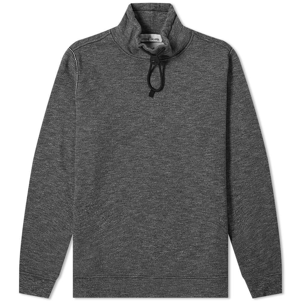 STONE ISLAND フリース メンズファッション トップス スウェット トレーナー メンズ 【 Funnel Neck Drawstring Fleece 】 Anthracite