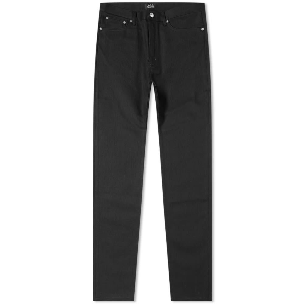 A.P.C. スタンダード 黒 ブラック A.P.C. 【 STANDARD BLACK PETIT JEAN STRETCH 】 メンズファッション ズボン パンツ