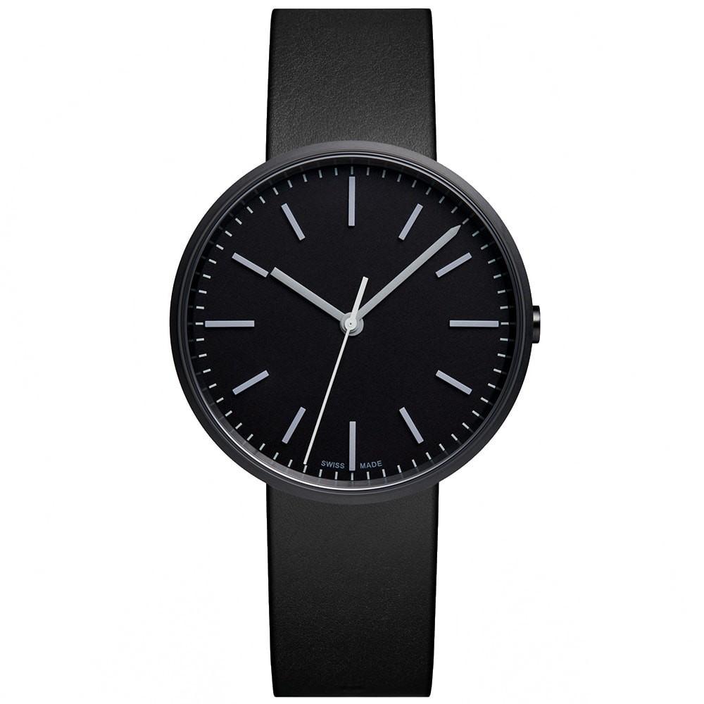 UNIFORM WARES ウォッチ 時計 黒 ブラック レザー & 【 WATCH BLACK UNIFORM WARES M37 PRECIDRIVE PVD LEATHER 】 腕時計 メンズ腕時計