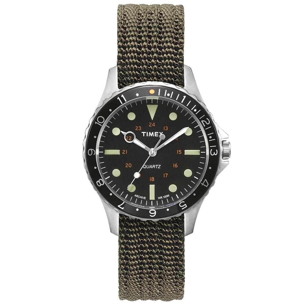 TIMEX ARCHIVE タイメックス ウォッチ 時計 銀色 スチール 黒 ブラック & 【 WATCH BLACK TIMEX ARCHIVE NAVI HARBOUR STEEL 】 腕時計 メンズ腕時計