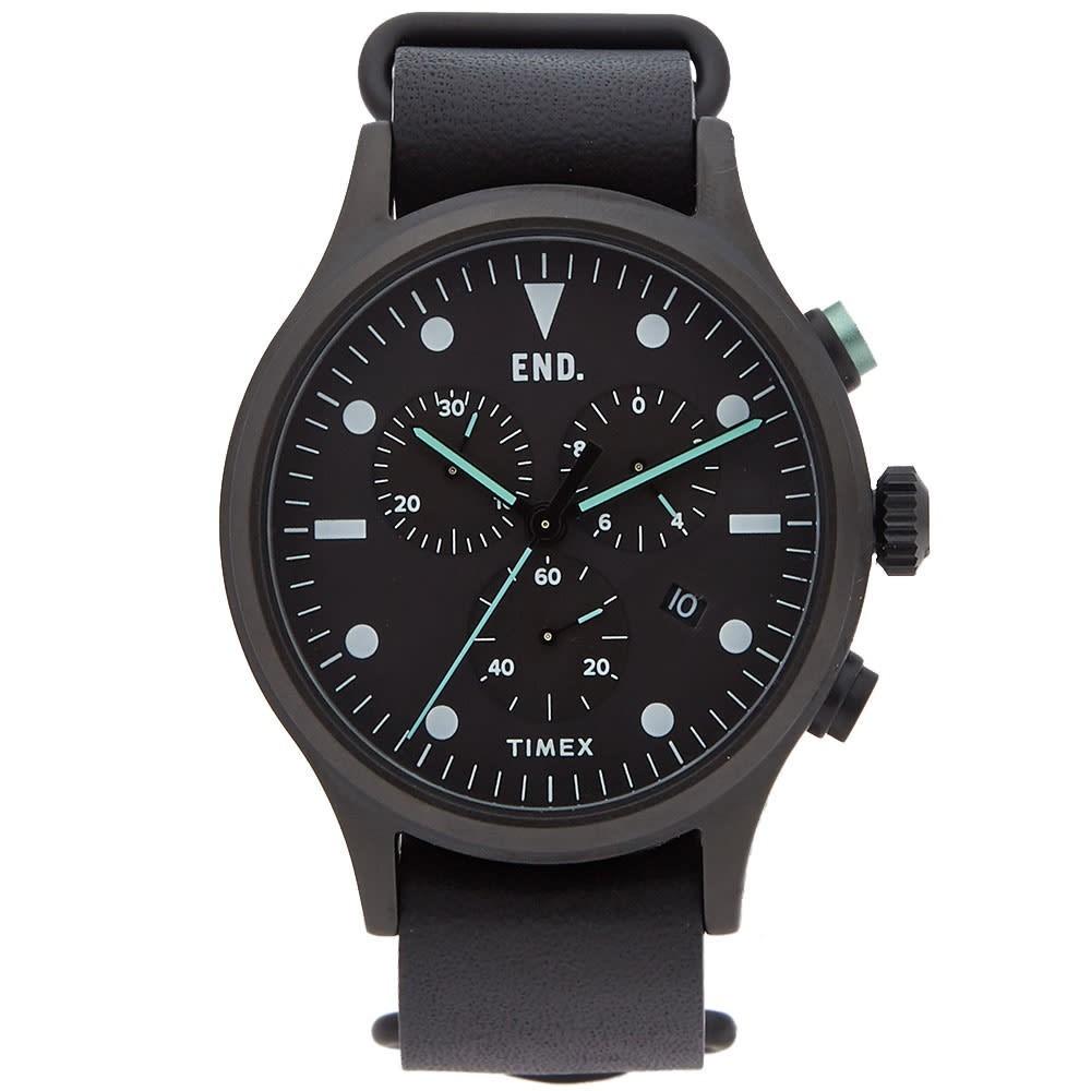 TIMEX タイメックス 黒 ブラック END. 'BLACKOUT' & 【 BLACK TIMEX X ALLIED CHRONOGRAPH MINT 】 腕時計 メンズ腕時計
