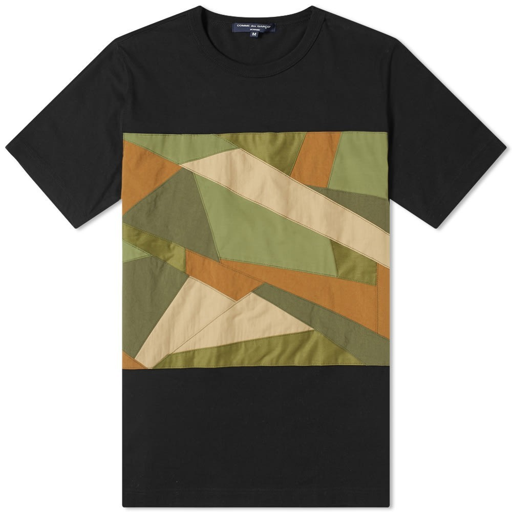 COMME DES GAR?ONS HOMME & 【 GARCONS FABRIC CAMO INSERT TEE BLACK 】 メンズファッション トップス Tシャツ カットソー 送料無料