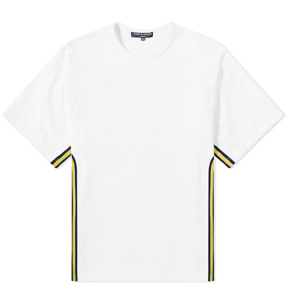 COMME DES GAR?ONS HOMME 【 GARCONS SIDE TAPED TEE WHITE 】 メンズファッション トップス Tシャツ カットソー 送料無料