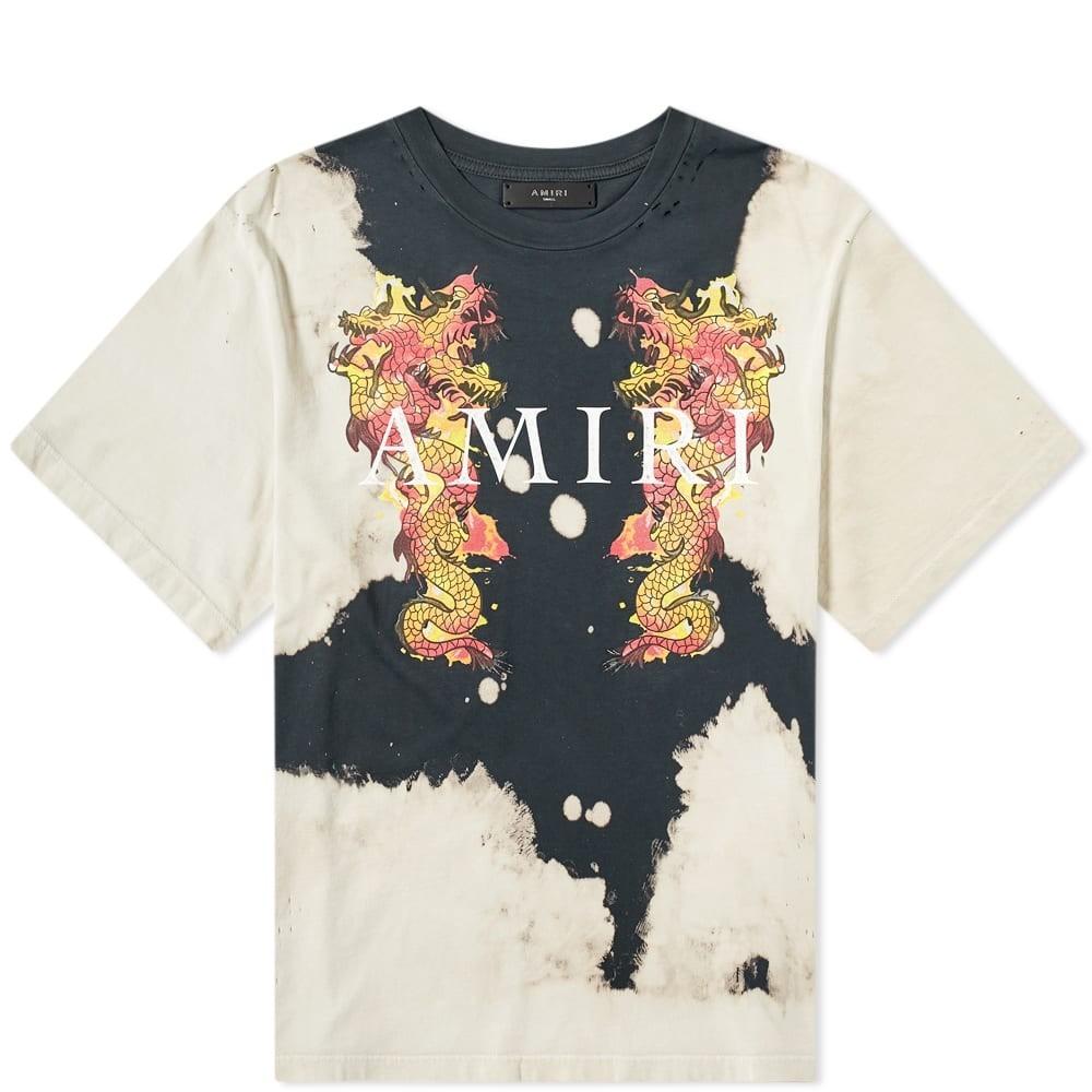 AMIRI ドラゴン 【 WATERCOLOUR DRAGON TEE TAR 】 メンズファッション トップス Tシャツ カットソー 送料無料
