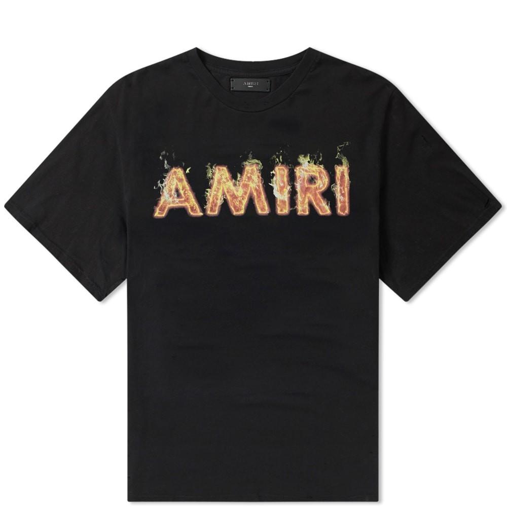【スーパーセール商品 12/4-12/11】AMIRI 【 FLAME TEE TAR 】 メンズファッション トップス Tシャツ カットソー 送料無料
