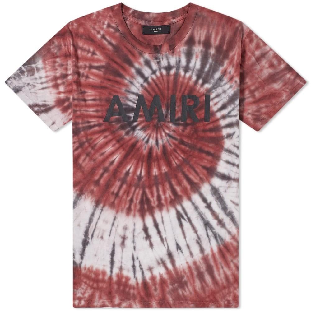 AMIRI 【 TIE DYE TEE BURGUNDY 】 メンズファッション トップス Tシャツ カットソー 送料無料