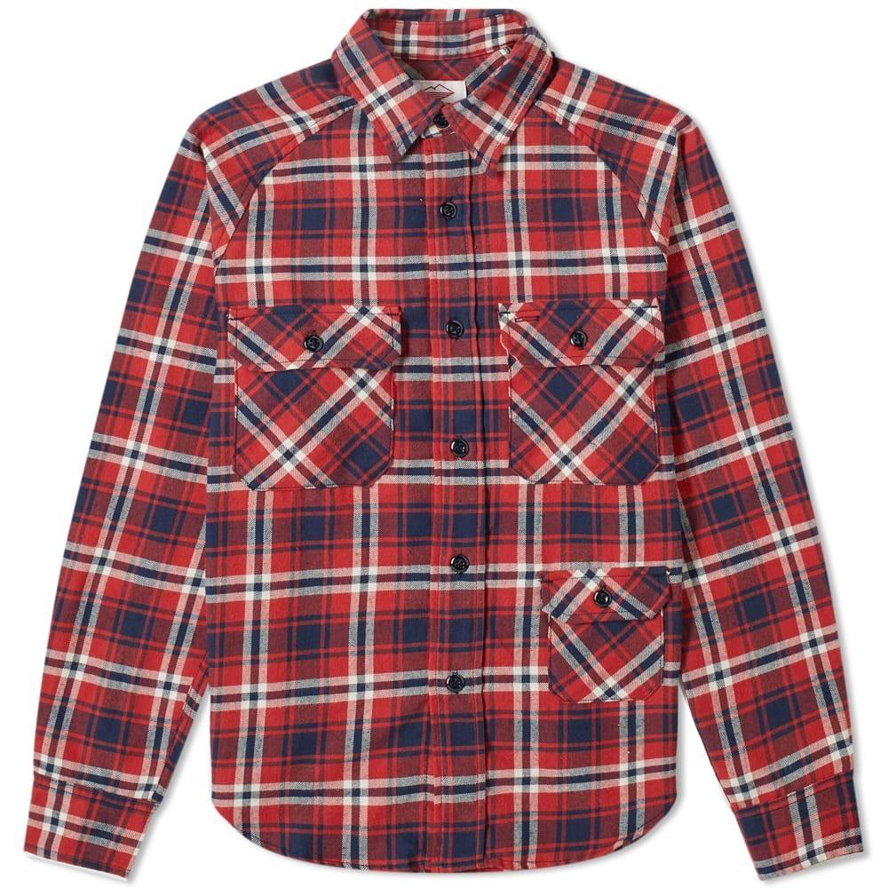 BATTENWEAR 【 CAMP SHIRT RED PLAID 】 メンズファッション トップス カジュアルシャツ 送料無料