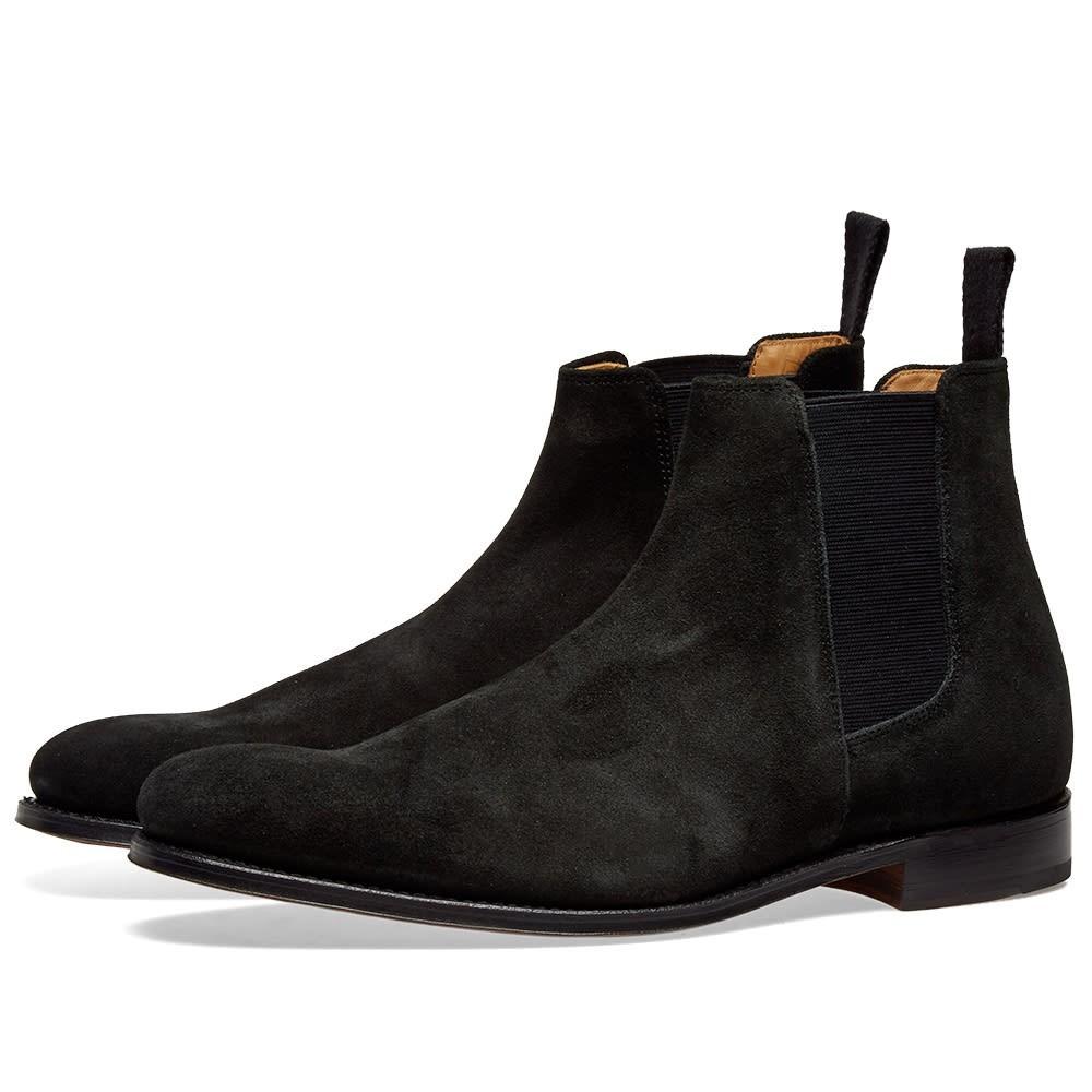 GRENSON ブーツ メンズ 【 Declan Chelsea Boot 】 Black Suede