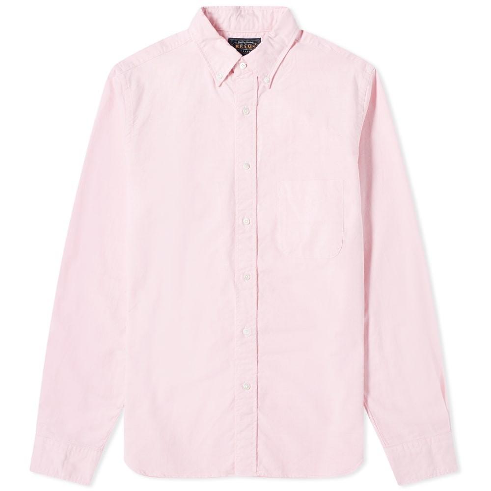 BEAMS PLUS ダウン オックスフォード 【 BUTTON DOWN OXFORD SHIRT PINK 】 メンズファッション トップス カジュアルシャツ 送料無料