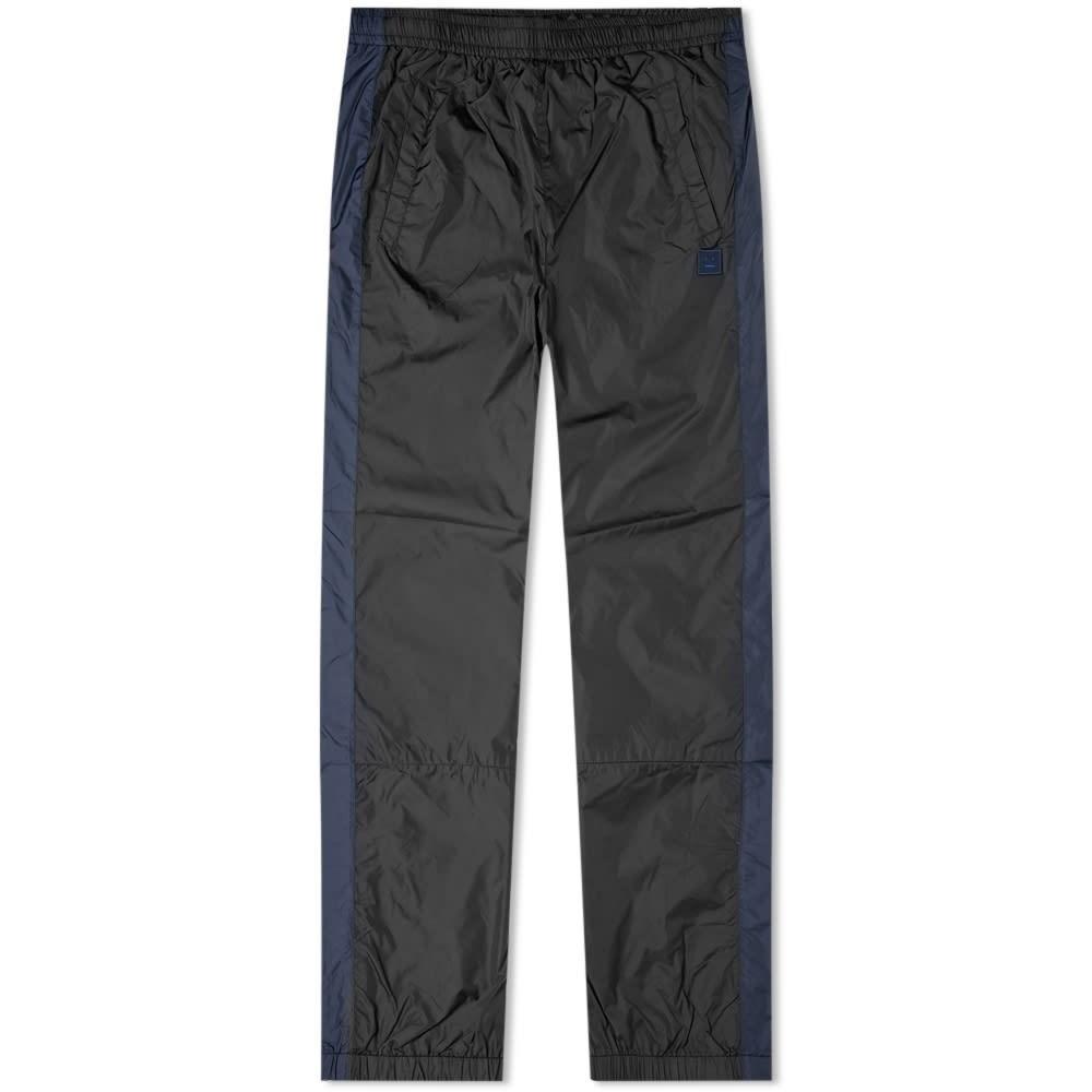 ACNE STUDIOS フェニックス トラック 黒 ブラック 【 BLACK ACNE STUDIOS PHOENIX FACE TRACK PANTS 】 メンズファッション ズボン パンツ