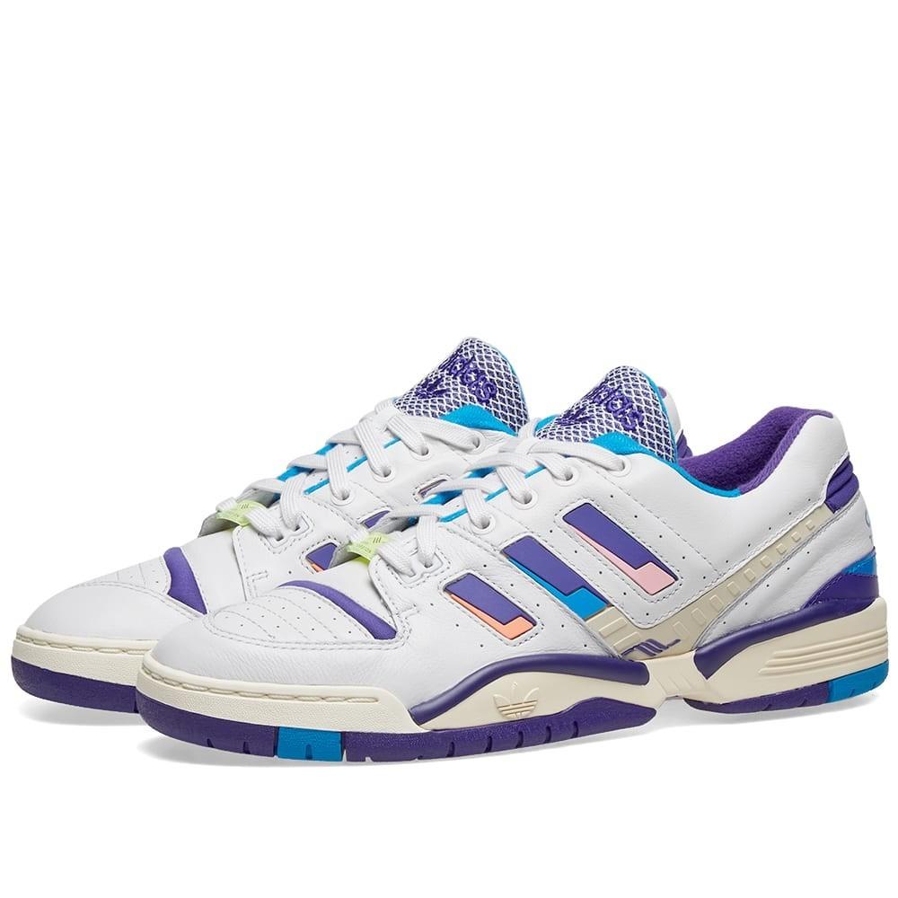 ADIDAS CONSORTIUM トルション スニーカー メンズ 【 Adidas Torsion Edberg Og 】 White, Ink & Bright Blue