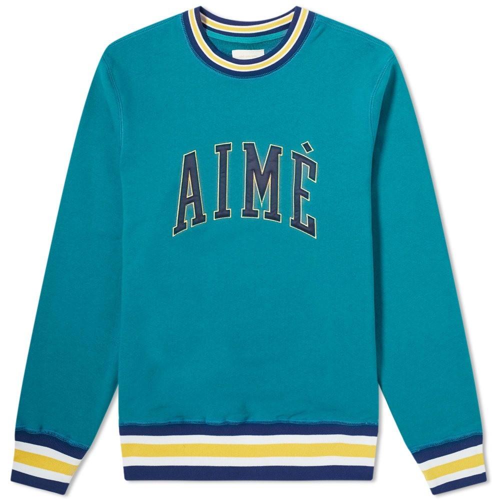 AIM・・ LEON DORE スウェット メンズファッション トップス トレーナー メンズ 【 Collegiate Crew Sweat 】 Mariner Green