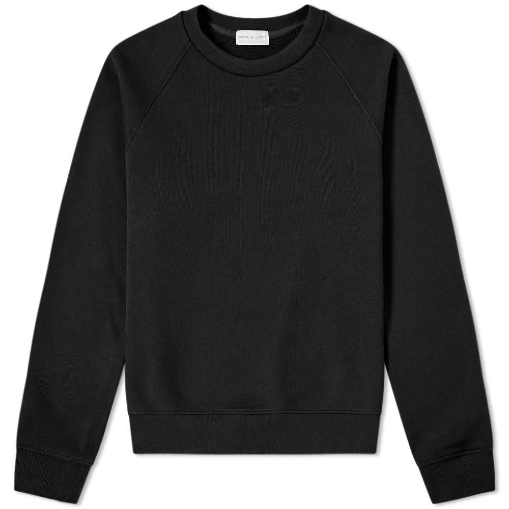 JOHN ELLIOTT ラグラン 【 RAGLAN CREW SWEAT BLACK 】 メンズファッション トップス スウェット トレーナー 送料無料