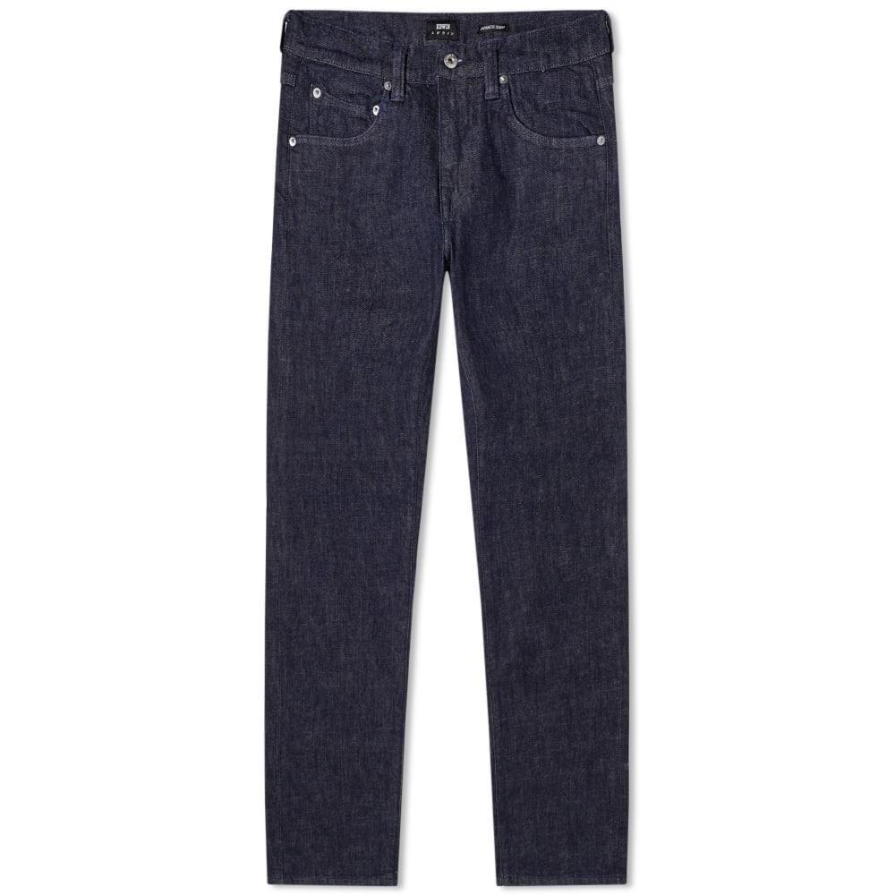 エドウィン EDWIN 青 ブルー 12.8OZ 【 BLUE EDWIN ED55 REGULAR TAPERED JEAN RINSED YUUKI 】 メンズファッション ズボン パンツ
