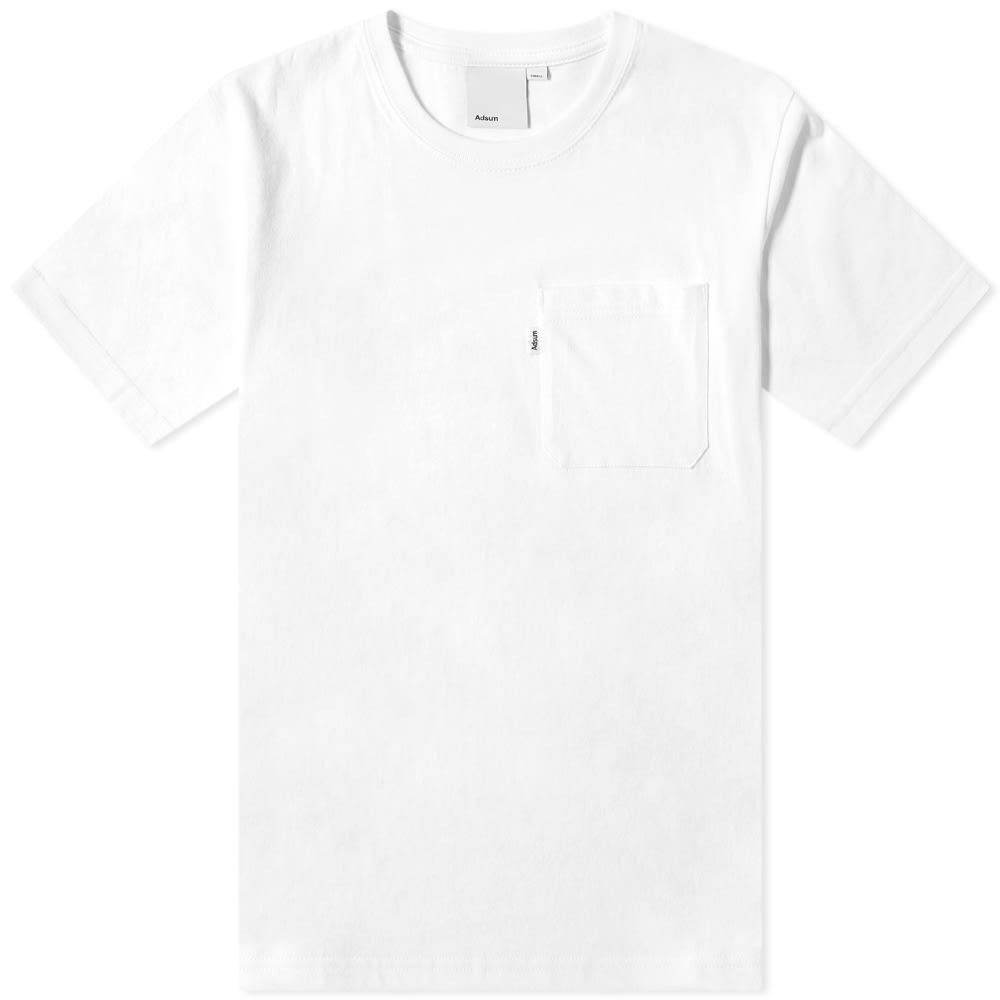 ADSUM Tシャツ メンズファッション トップス カットソー メンズ 【 Pocket Tee 】 Optic White
